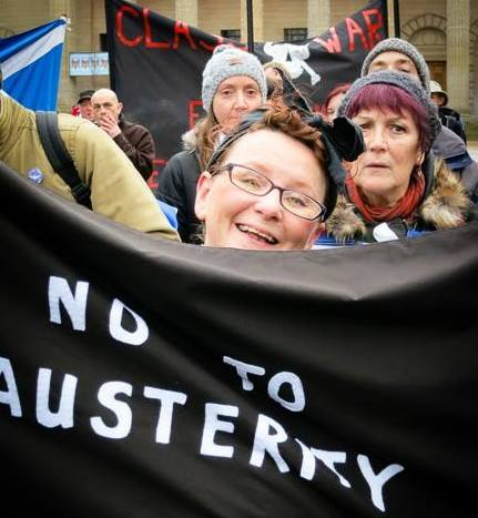 No to Austerity rally